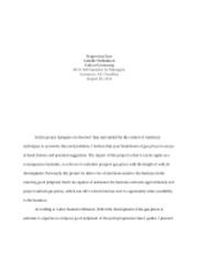 BUS308 Williamson Week 5 final project essay Regression Line