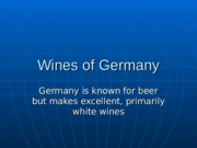 13. Wines of Germany