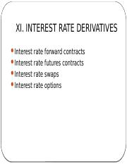 MFIN5400_s11 - interest rate derivatives