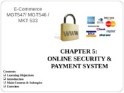 C5. Online Security and Payment System