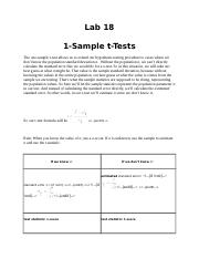 18 1-Sample t-Tests