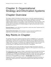 Chapter 3-Organizational Strategy and Information Systems.docx
