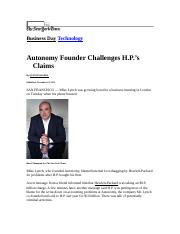 Autonomy Founder Challenges HP.doc