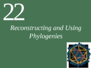 Ch22Lecture-Reconstructing and Using Phylogenies-1