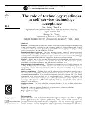 The role of technology readiness in self-service technology acceptance