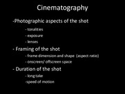 Lecture Slides 4 Cinematography