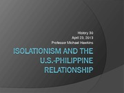 7 Isolationism and Philippines