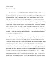 3 pages primary source analysis