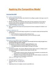 Applying Competitive Model