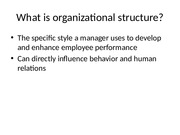 Organizational Structure and Communication and It's Effects on
