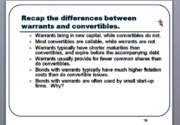 warrant and convertible