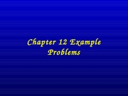 Chapter 12 EXAMPLES