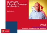 BUSS3500 Session 10