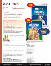 World History Full Survey and Ancient Civilizations Flyer and Order Form
