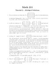 MATH 211 Tutorial 2 Solutions