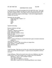 PSYC 336 - Midterm Review Sheet_Fall 2009