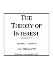 Kellison Reading Notes
