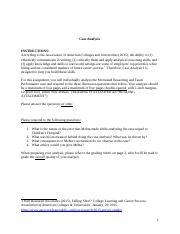 Case Analysis Instructions with rubric.docx