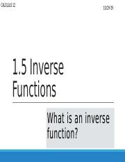 1.5 Inverse Functions.pptx