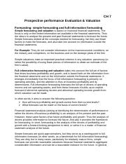CH 7 - Prospective Performance Evaluation & Valuation.docx