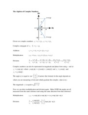 The Algebra of Complex Numbers.pdf