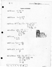 College Algebra Equations with Radicals