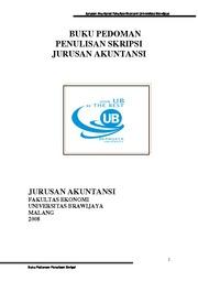 Pedoman Penulisan Skripsi Jur Akt Jurusan Akuntansi Fakultas