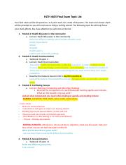 HLTH 4605 Final Exam Topic List(2).docx