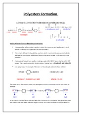 Polyesters Formation.docx