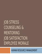 4. Job stress, counseling, satisfaction.ppt