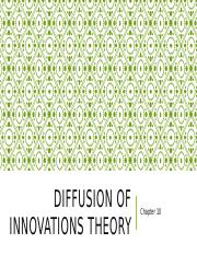 Ch. 10 Diffusion of Innovations Theory (1).pptx