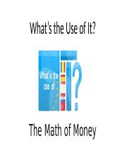 2a)The_Math_of_Money.ppt
