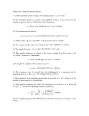 Chapter 15 Student Solutions Manual