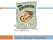 MGT 4394 Case Study Project - Panera Bread Company