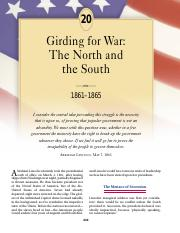 chapter 20 girding for war the north and the south