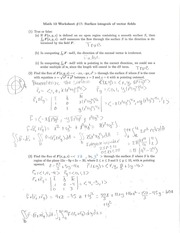 Worksheet 17 Solutions