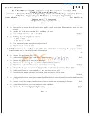(www.entrance-exam.net)-JNTU B.Tech 2nd Year CSE Supplementary Exam-Computer Organization Sample Pap