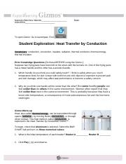 Heat Transfer by Conduction Gizmo - ExploreLearning.pdf ...