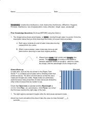 Ripple Tank Gizmo - ExploreLearning.pdf - ASSESSMENT ...