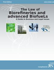 The Law of Advanced Biorefineries and Biofuels