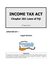 INCOME TAX ACT REVISED 13TH MARCH 2014
