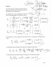 Practice Problems (Point Charges) Physics 13 Lehigh