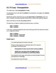 food additives essay ieltsbuddy com online ielts advice 2 pages task 2 sample essay overpopulation