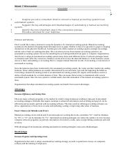 Accounting I - Disccussion - Week 7.docx