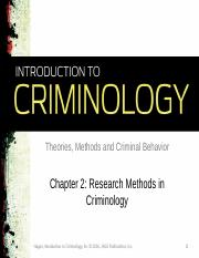 Chapter 2_Research Methods in Criminology