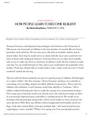 How People Learn to Become Resilient - The New Yorker (1).pdf