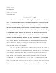 Paper #1 for Humanities