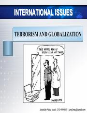 TOPIC 9 - TERRORISM AND GLOBALIZATION