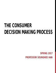 The Consumer Decision Making Process (1)