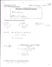 Derivatives of Exponential Functions Outline